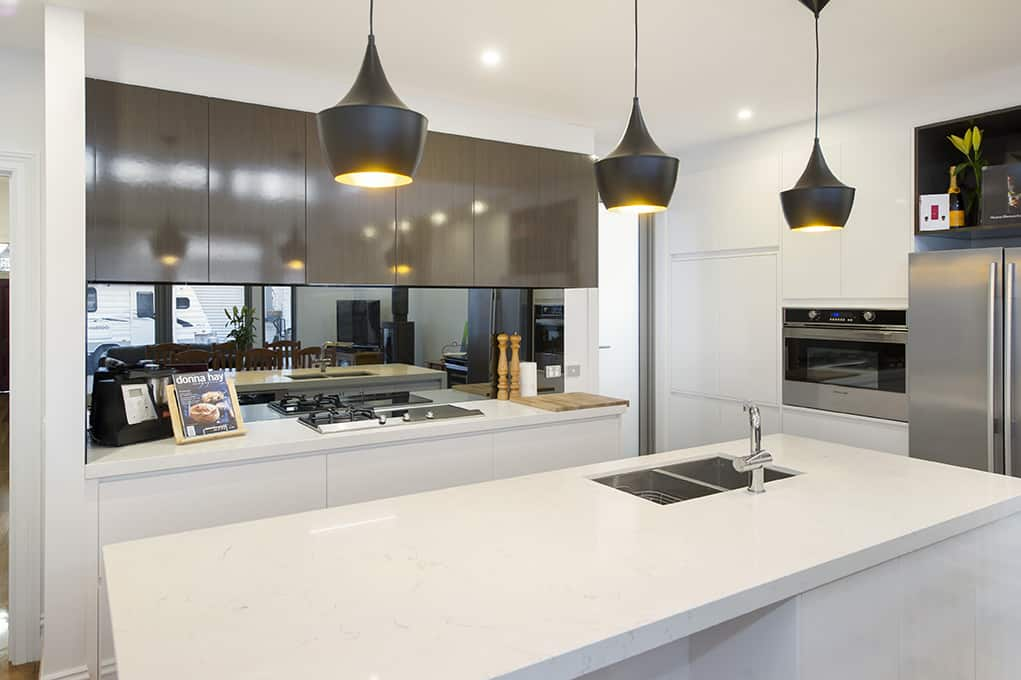 Brown White Kitchen builder melbourne