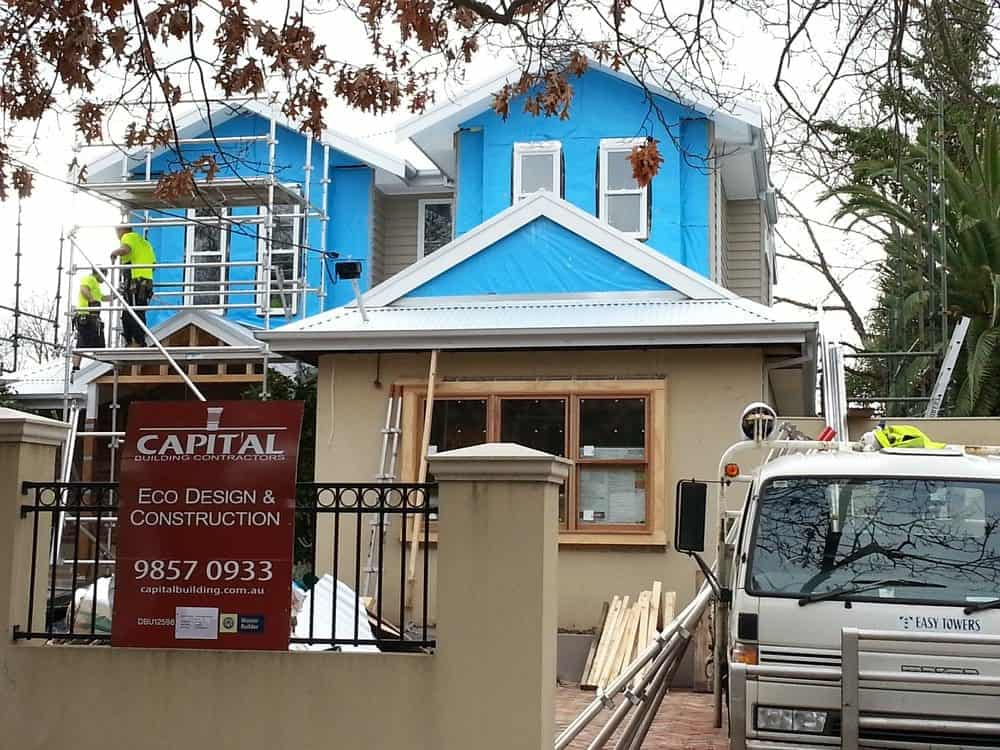 Progress of extension builder Captial Building contractors