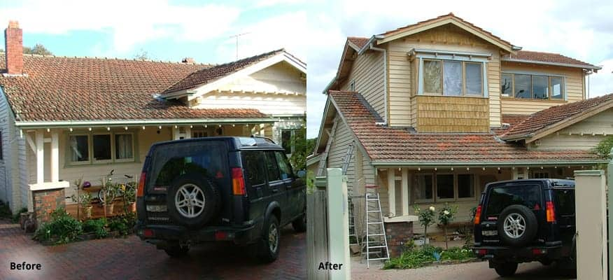 Surrey Hills Before After Builder Extension