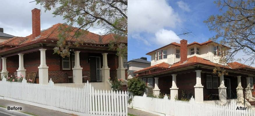 Before After Second Storey Extension Builder Melbourne